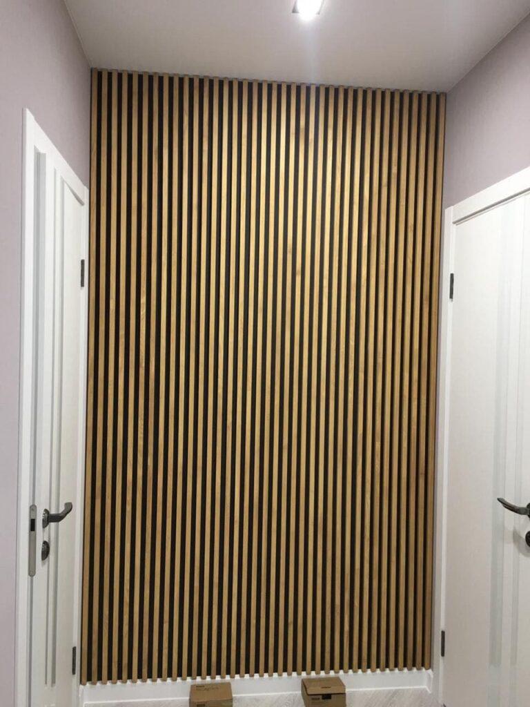 Как установить рейки на стену