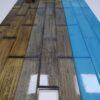 Стеновой паркет, окрашеный